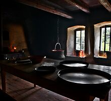 kitchen of an old swiss cottage by Mario Curcio