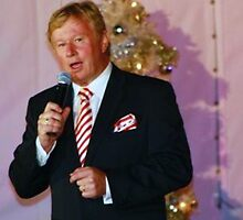 Denis Walters - singing at Carols by the Bay Geelong by Rhonda F.  Taylor