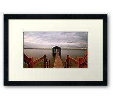 Crawley Boat Shed Framed Print