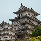Castle at Hiimeji With Trees  by jojobob