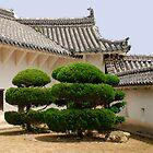 Courtyard in Himeji Castle  by jojobob