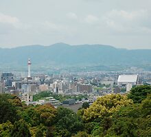 Kyoto With Foreground Temple  by jojobob