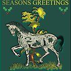 Seasons Greetings Horse Card by Brenda Cheason