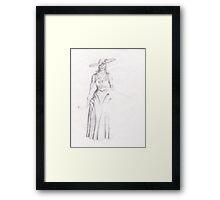 Victorian Woman Framed Print