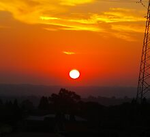White-Hot Sun In A Blood-Red Sky by David McMahon