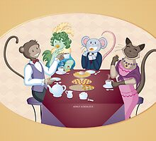 Animal Tea Party by Emily Gonsalves