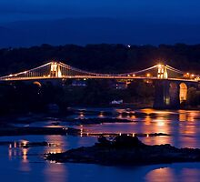 Menai Bridge at night by Phill Jones