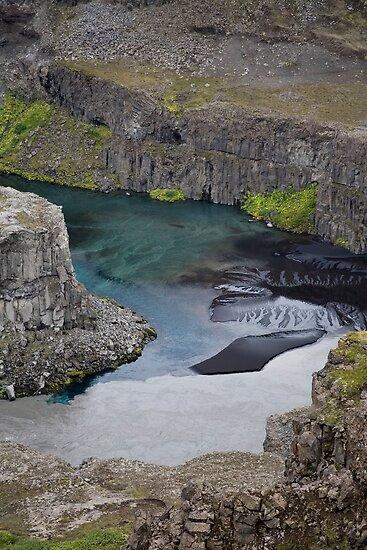 """Silt in Jökulsá á Fjöllum River, Jökulsá Canyon, Iceland"""" by"""
