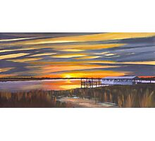 """ Bowens Island Sunset "" Charleston SC Photographic Print"