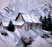 Colorado Hunting Lodge by Jim Phillips