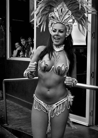 Samba Dancer and Onlookers by Andrew  Makowiecki