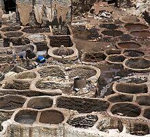 Maroc - Fez (Fès) فـاس - Tanneurs by Thierry Beauvir