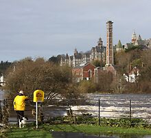 staggering floods on river lee Cork. by Edward  manley