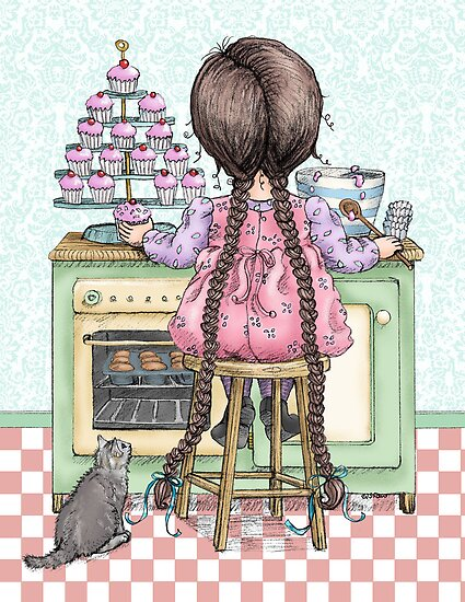 kitten and cupcakes by vian