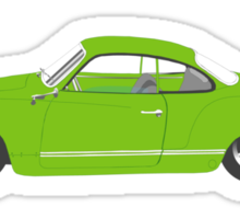 Green Karmann Ghia Tshirt Sticker