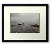 Rainy road Framed Print