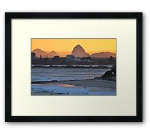 Bring it On - Sunset Caloundra Framed Print