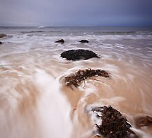 Hopeman water rush by Christopher Thomson
