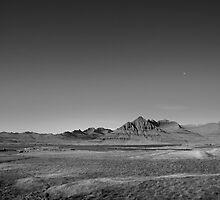Spectacular Mountain Landscape, Berufjör?ur, East Coast, Iceland in Black & White by hinomaru