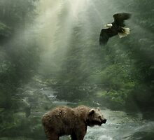 Eagle & Bear by Cliff Vestergaard