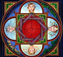 Mandala Cycles of a Woman. by Mandala Magic  Karen Scott