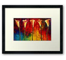 Calla Lilies Glow Framed Print