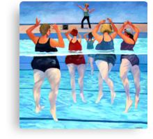 Aqua Class Canvas Print