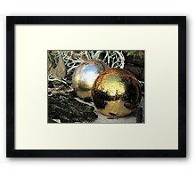 Christmas balls after rain Framed Print