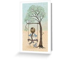 la la la swing la la la Greeting Card