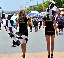 V8 Grid Girls by Bill Fonseca