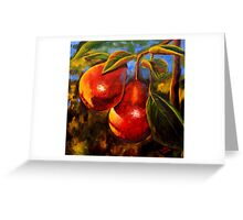 Red Pears Greeting Card