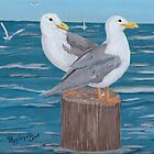 Seagulls ~ Oil Painting by Barbara Applegate