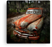 Death of a car -RIP- Canvas Print