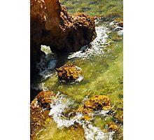 Rocks and Sea Swell at Ponta da Piedade Photographic Print