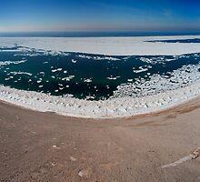 A Panorama of the Lake Michigan Overlook by Robert deJonge