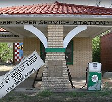 "Texaco ""66"" Super Service Station by Patricia Montgomery"