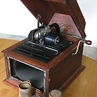 Edison phonograph and record cylinders by WonderlandGlass