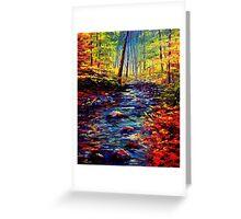 Autumn Maple Stream Greeting Card