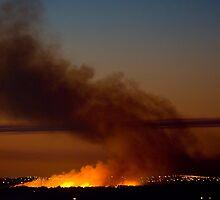 Night fire by johnwheat