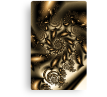 Gold Spiral  Roses Canvas Print