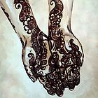Lovely - A woman's hands decorated with henna by CisforChristine