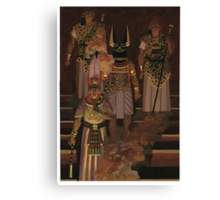 Egyptian funeral Canvas Print