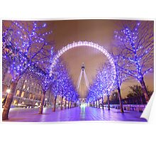 London Christmas Eye Poster