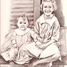 On the Back Stoop (My grandmother & her baby sis) by Sandy Taylor