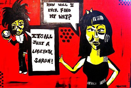 IT'S ALL JUST A LABYRINTH SARAH! by monikablichar