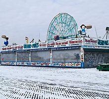 Snowy Coney Island by andykazie