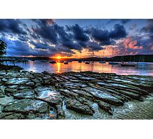 Sunset On The Rocks - Paradise Beach, Sydney  The HDR Experience Photographic Print
