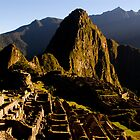 Sunrise at Machu Picchu in Peru by pdgoodman