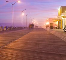 Asbury Park Boardwalk at Night by andykazie