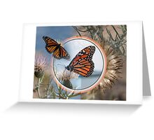 The Monarch and the Thistle Greeting Card
